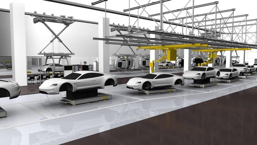Porsche Interview Talks Mission E Future, Shows Production Line