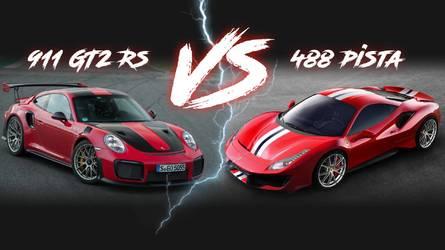 Ferrari 488 Pista vs Porsche 911 GT2 RS - La guerre des chiffres