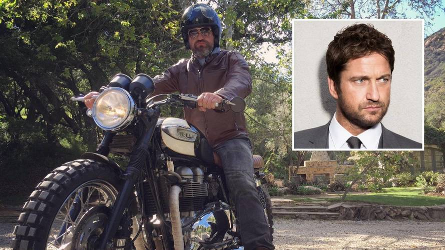 Gerard Butler has fallen (off his motorbike)