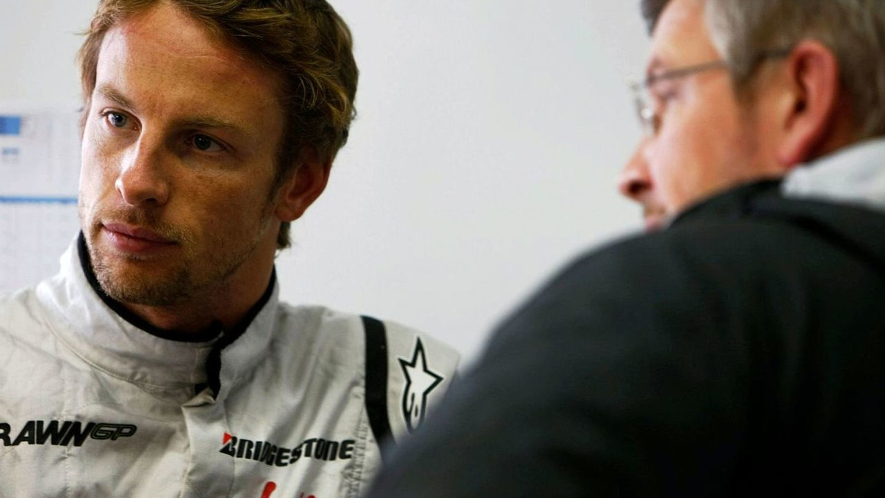 Jenson Button (GBR), Ross Brawn (GBR) Team Principal, Brawn GP, Brazilian Grand Prix, Saturday, qualifying, Sao Paulo, Brazil, 17.10.2009