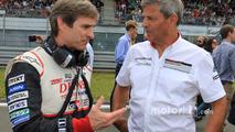Pascal Vasselon, Toyota Racing technical director, Fritz Enzinger, Vice President LMP1, Porsche Team