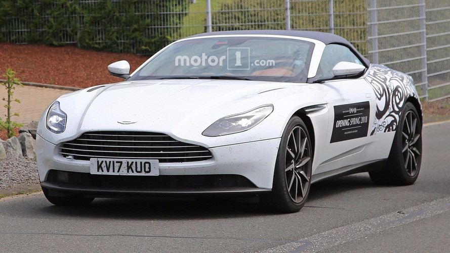 Aston Martin DB11 Volante Spied Again With Even Less Camo