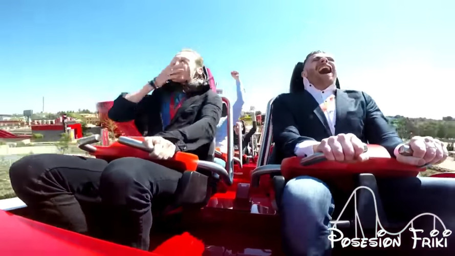 Ferrari Roller Coaster Rider Takes A Pigeon To The Face At 180 KM/H