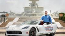 Corvette Z06 pace car for Chevrolet Dual in Detroit