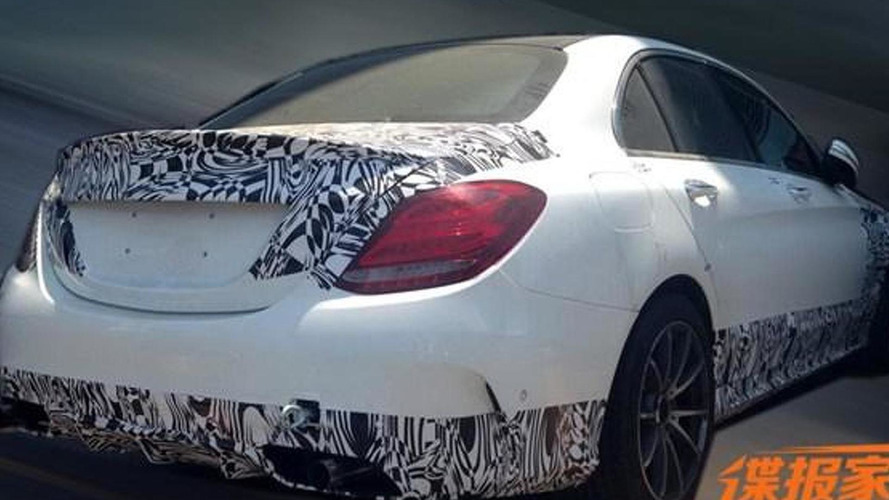 Mercedes-Benz C63 AMG sedan spied inside and out in China