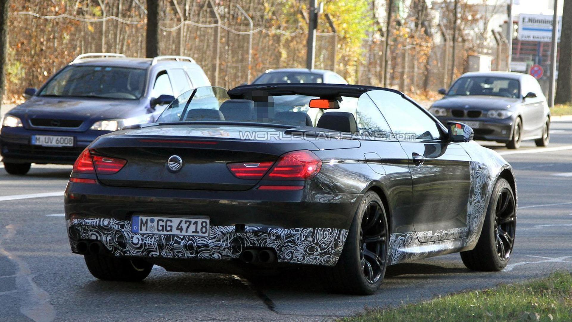 BMW M Cabrio Caught Topless - 2011 bmw m6