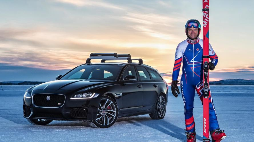 Jaguar XF Sportbrake Pulls Skier At 117 MPH For World Record