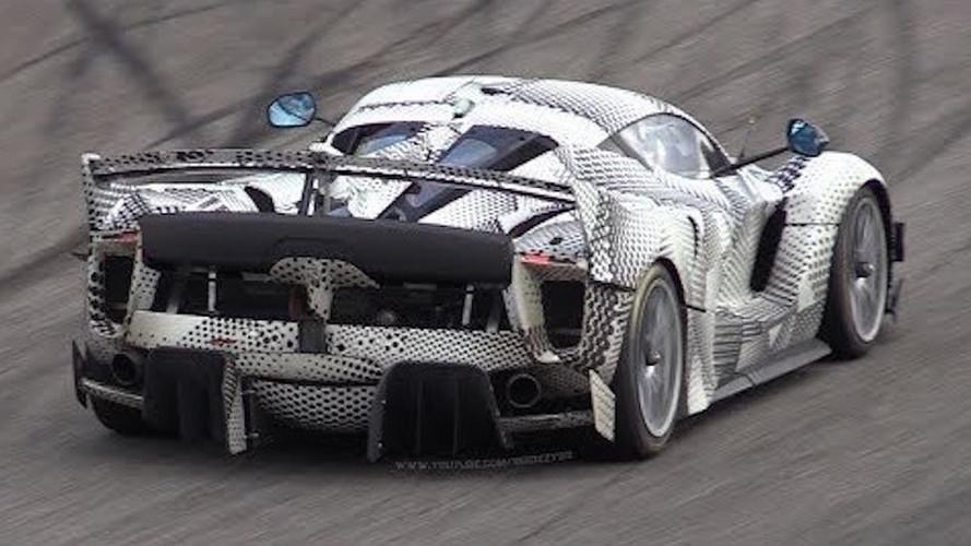 2018 Ferrari FXX K Evo Mule Spotted Terrorizing Monza Circuit