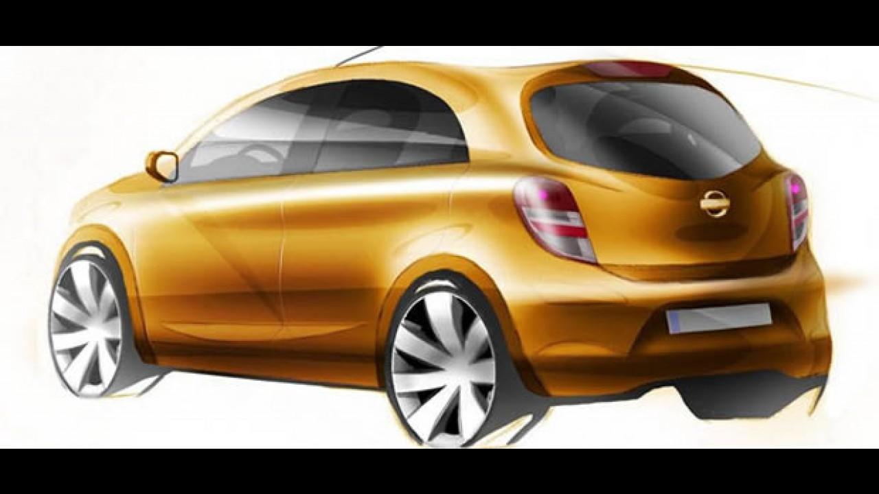 Nissan divulga esboço de futuro compacto que será fabricado no Brasil em 2011