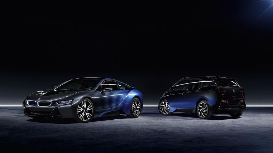 BMW présente deux concepts très colorés de ses i3 et i8