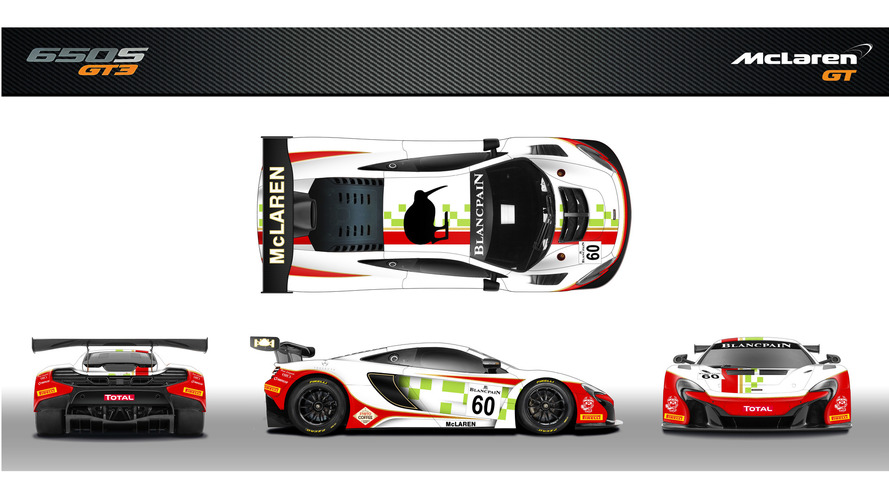 McLaren 650S GT3 wears tribute livery for Bruce McLaren team
