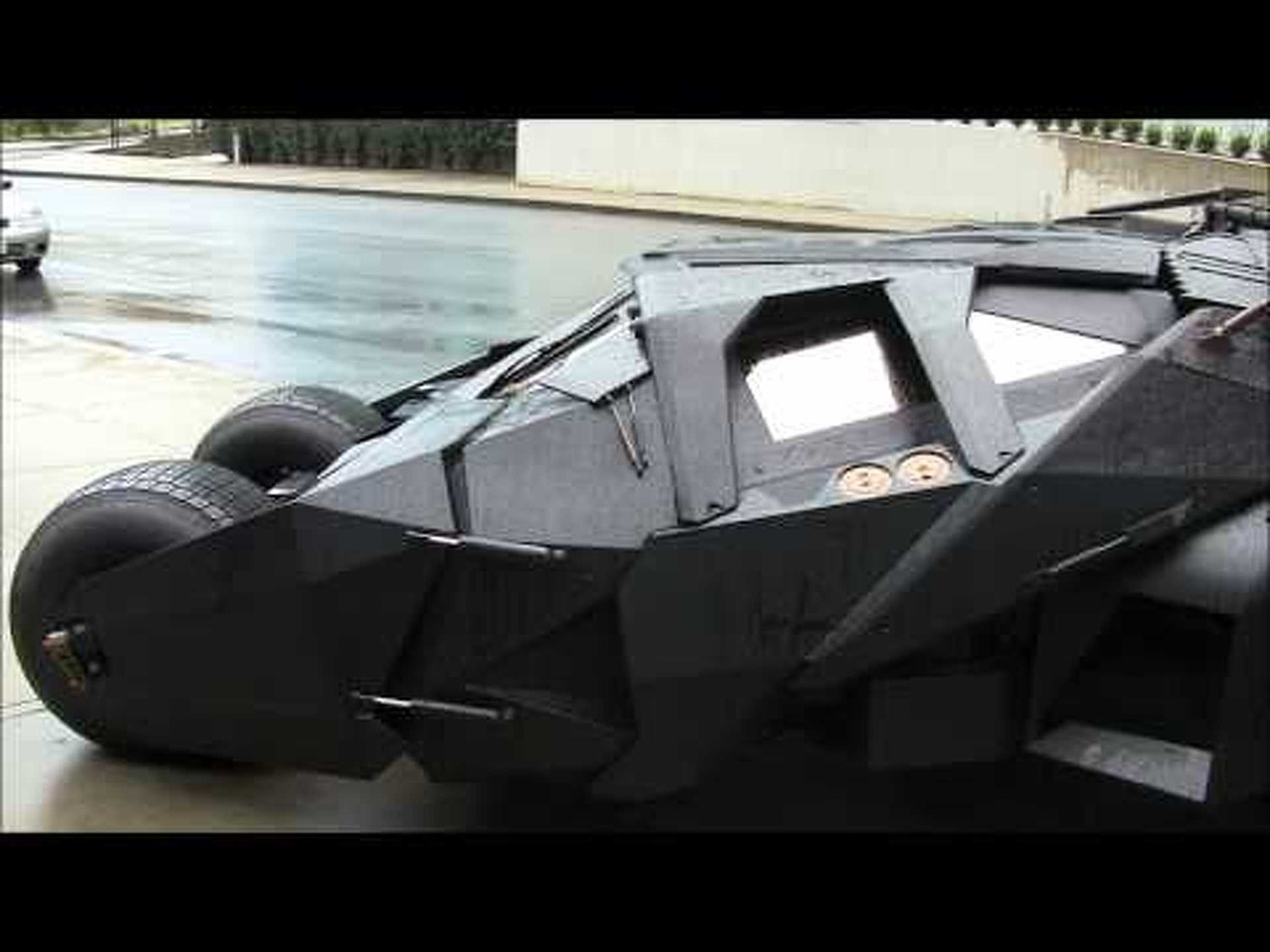 The Dark Knight's batmobile at Electronic Arts Vancouver