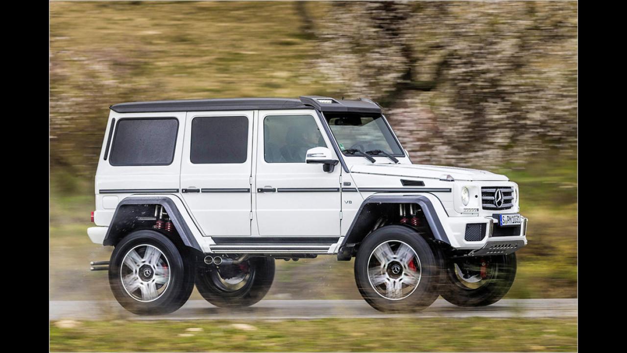Höchstes Serienauto: Mercedes G 500 4x4², 2,23 Meter