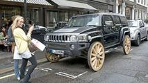 Hummer H3 Gets Wagon Wheels - Literally