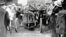 Gordon Bennett at the wheel of a 90 hp Mercedes