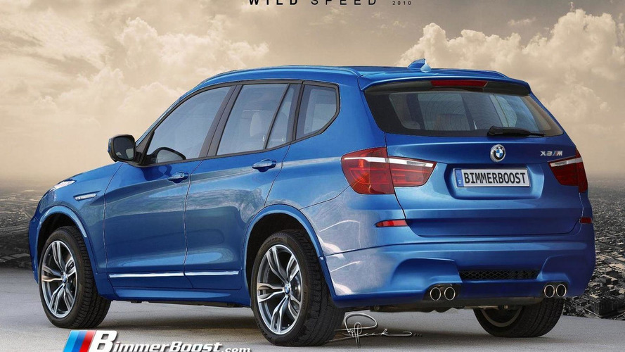 BMW X3 M rendered