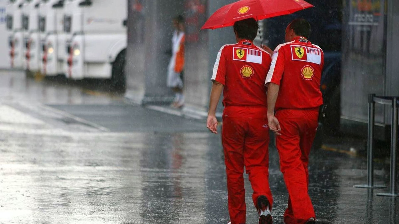 thunder storm hits Monza after qualifying