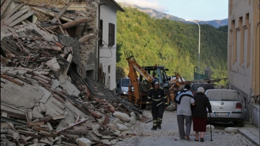 Terremoto Centro Italia, l'ACI mette a disposizione mezzi e uomini