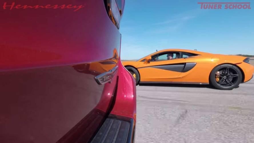Jeep Vs McLaren Drag Race