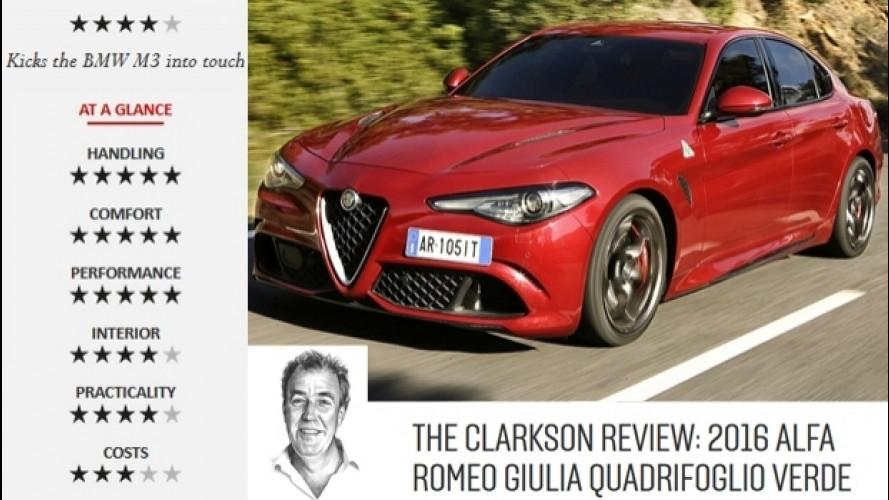 Alfa Romeo Giulia Quadrifoglio, pregi e difetti secondo Jeremy Clarkson