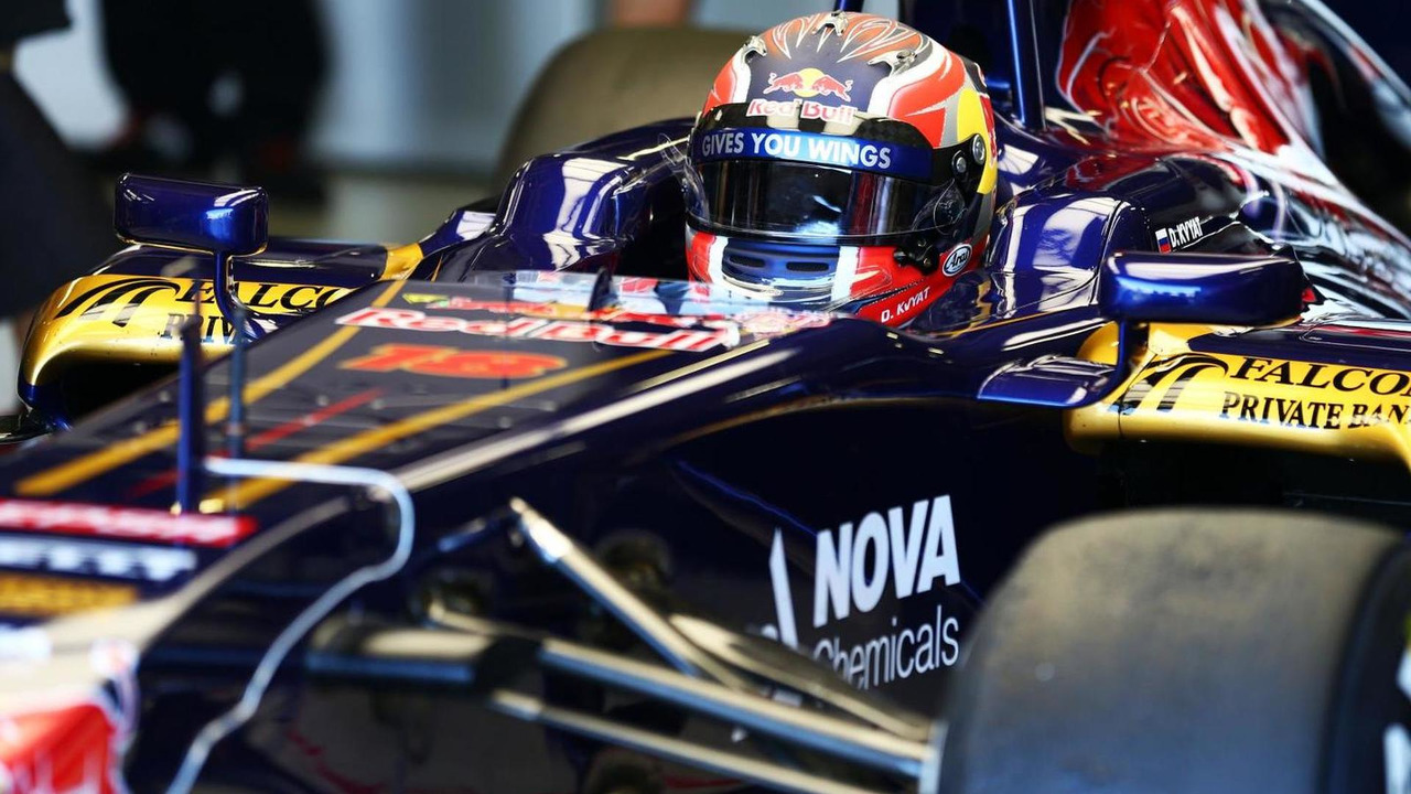 Daniil Kvyat in Toro Rosso STR8 19.07.2013 Formula One Young Drivers Test Silverstone England