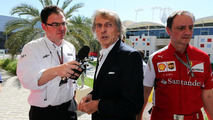Luca di Montezemolo (ITA) with James Allen (GBR), Journalist and BBC Radio 5 Live Commentator, 06.04.2014, Bahrain Grand Prix, Sakhir / XPB