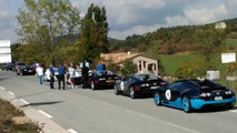 Bugatti Veyron pulled over in France because of wrong numberplate, seven other Veyrons stop as well