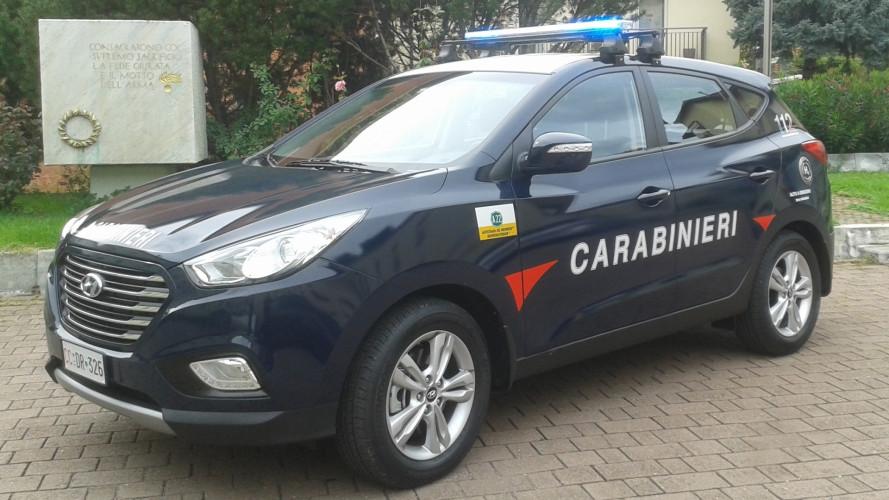 I Carabinieri viaggiano a idrogeno con la Hyundai ix35 Fuel Cell