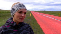 Iceland painted road experiment