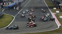 2013 Formula 1 Chinese Grand Prix race start 14.04.2013