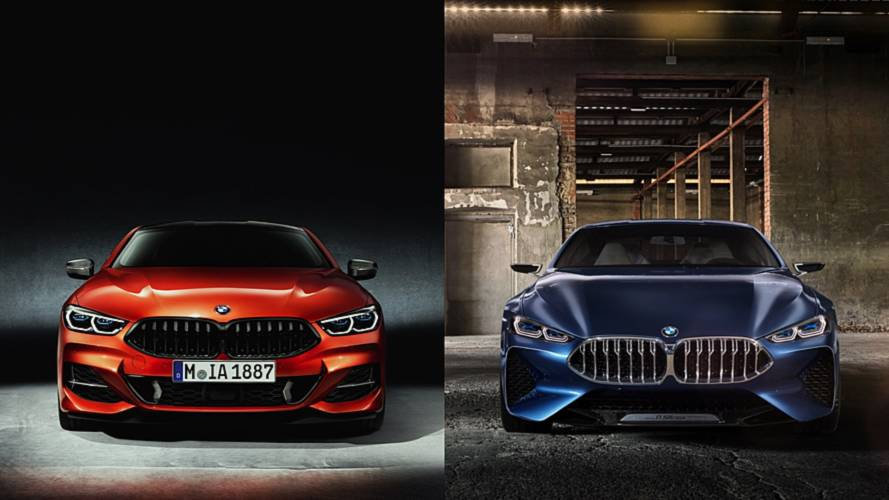 Here's How The New BMW 8 Series Compares To The Concept