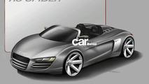 Audi R8 Targa design sketch