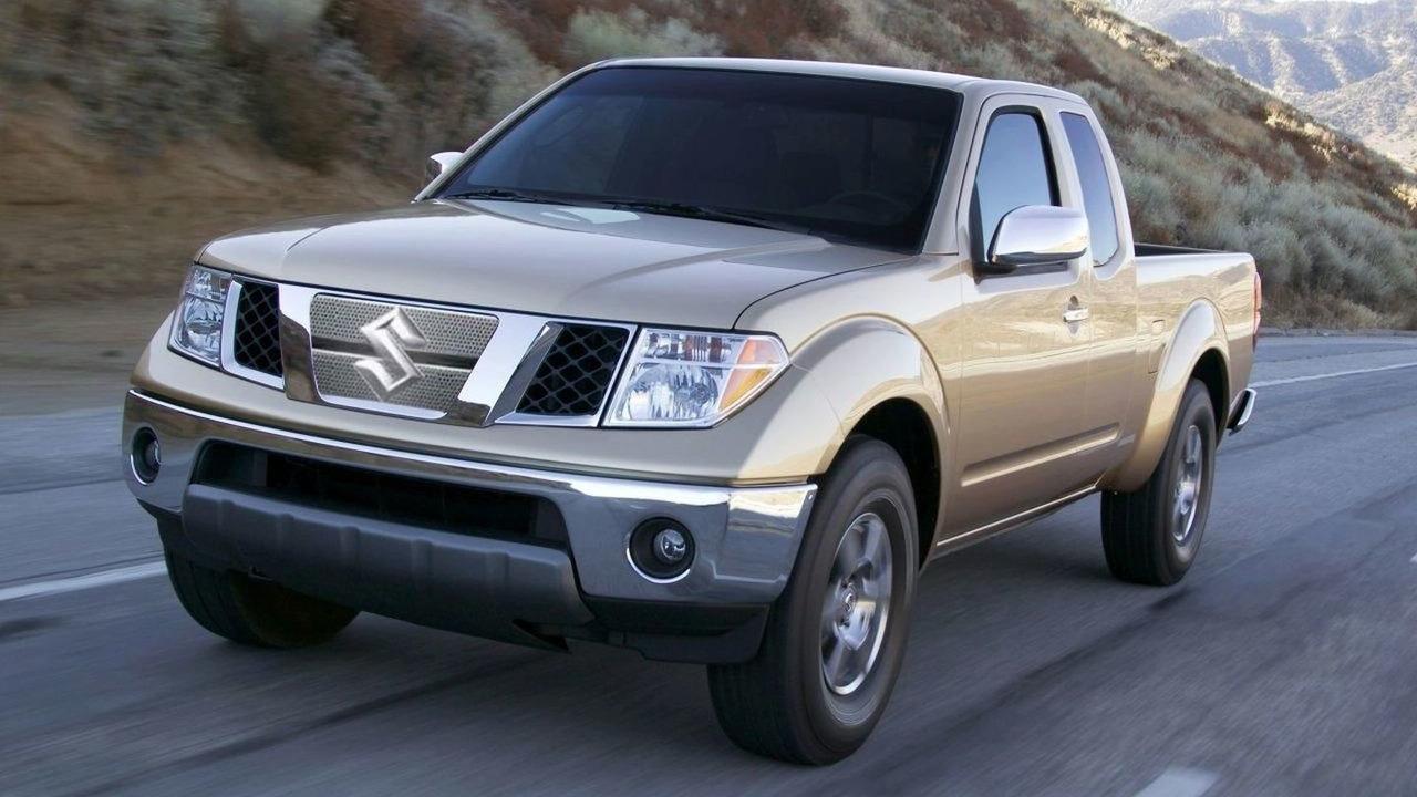 Nissan Frontier with Suzuki emblem