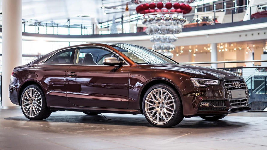 Heavily customized Audi S5 Coupe in Mahogany Mica is a stunner