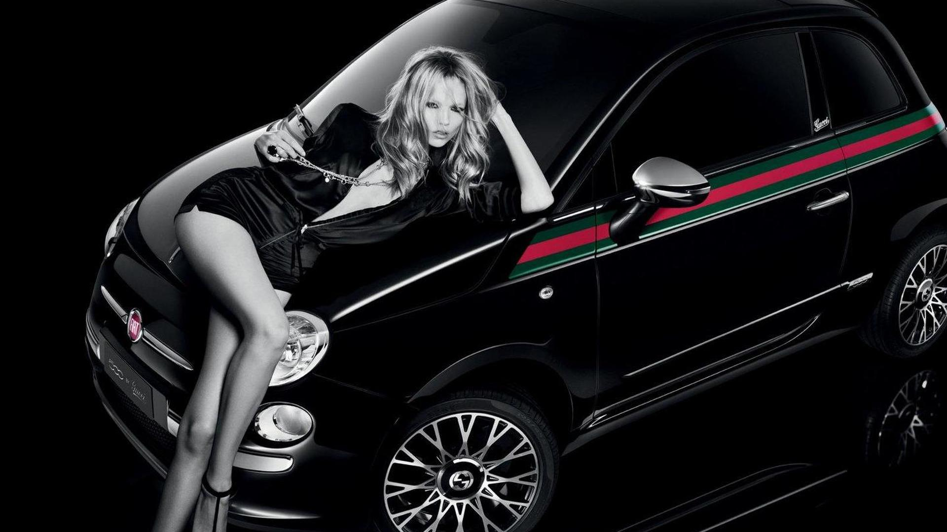fiat 500 by gucci ad with leggy model. Black Bedroom Furniture Sets. Home Design Ideas
