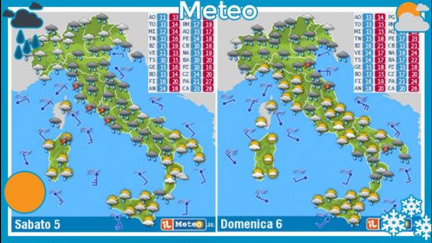 Meteo del fine settimana 5 e 6 ottobre 2013: pioggia e vento