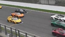 Nine McLaren P1s at Spa Francorchamps