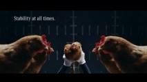 Vídeo: Mercedes usa galinhas para mostrar tecnologia de estabilidade