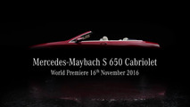 Mercedes-Maybach S650 Cabriolet teaser