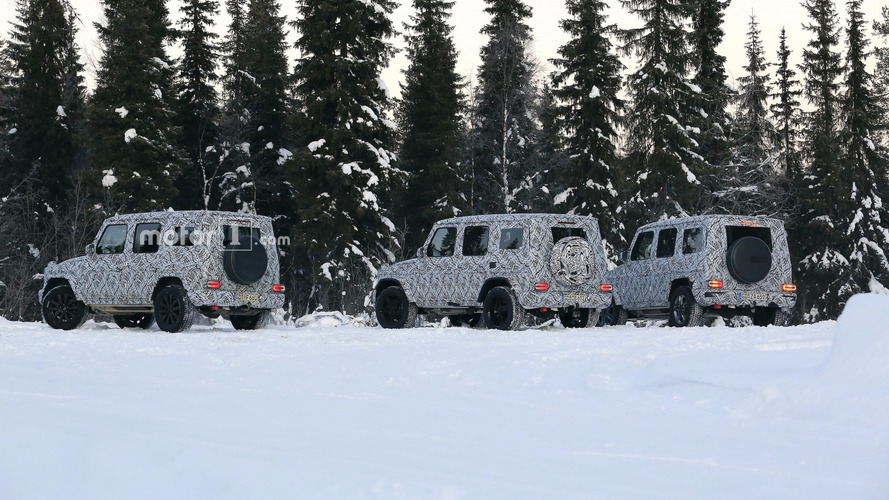 2018 Mercedes G-Class caught testing alongside beefy G63