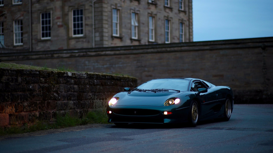 How do you keep a Jaguar XJ220 on the road?