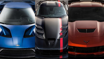 Ford GT, Dodge Viper ACR, Chevy Corvette Z06