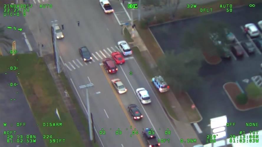 Watch A Speeding Corvette Driver In Florida Avoid A Police Chopper