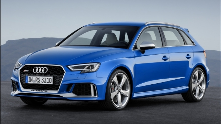 Audi RS 3 Sportback restyling, ora con 400 CV
