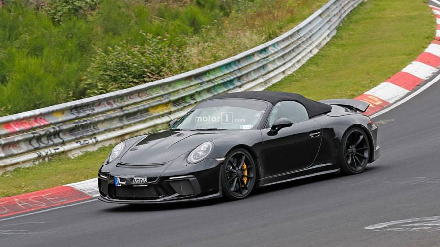 Porsche 911 Speedster sprints around the 'Ring without camo