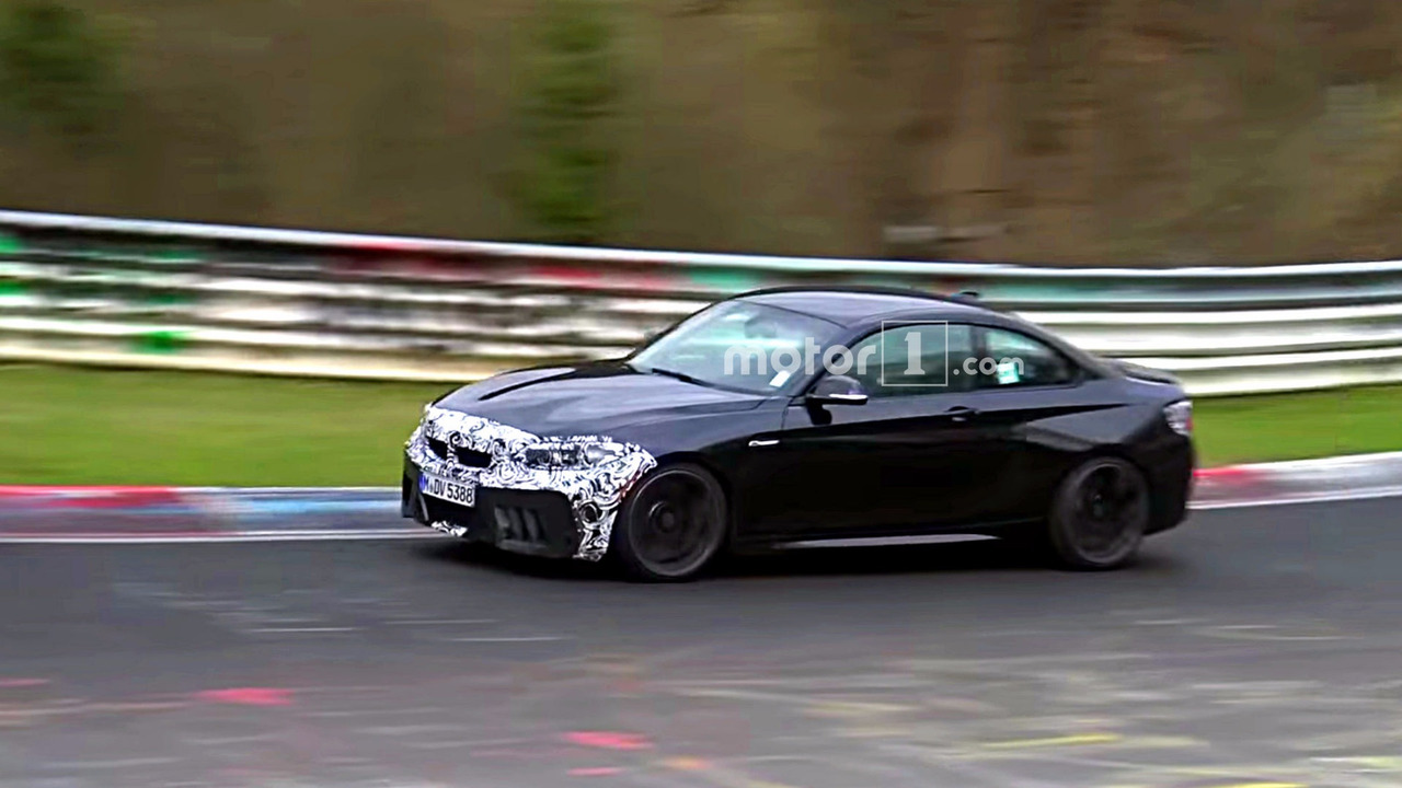 2018 BMW M2 CS Nürburgring casus fotoğrafları