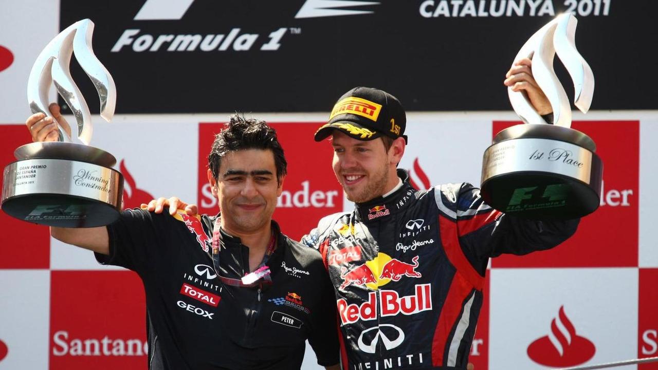 Sebastian Vettel with Peter Prodromou 22.05.2011 Spainish Grand Prix