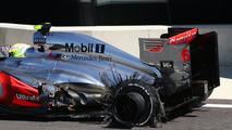Sergio Perez tyre blow out, British Grand Prix, 30.06.2013