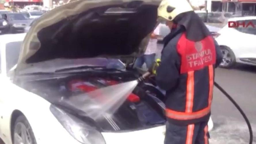 Ferrari F12 Berlinetta catches engine fire in Turkey