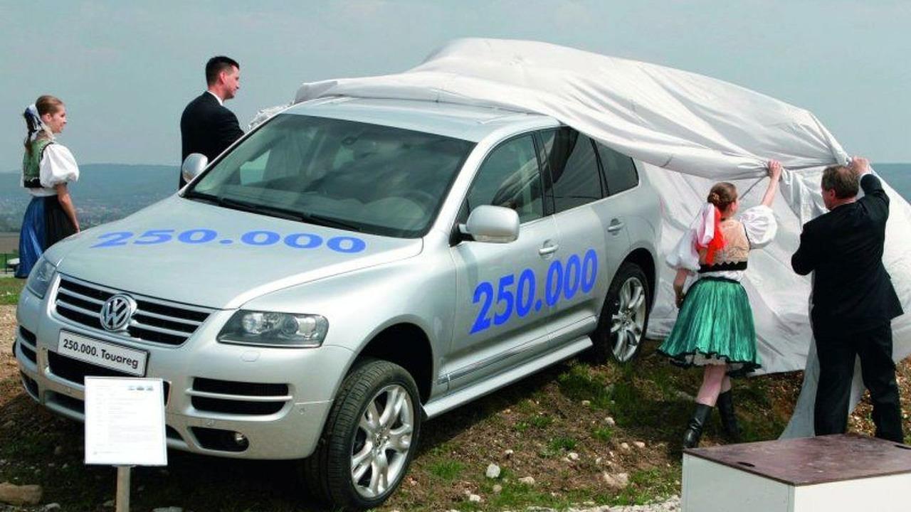 250,000 Volkswagon Touaregs celebrated